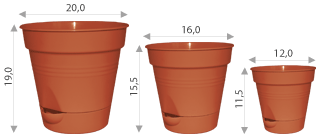 Flowerpot with watering